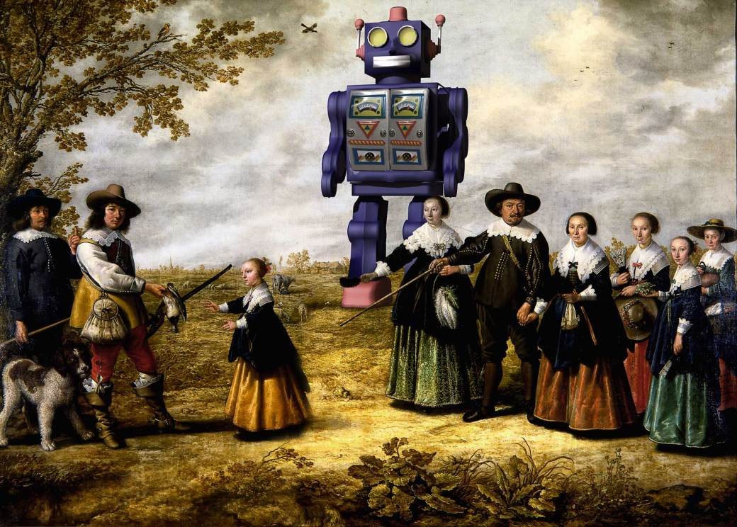 Albert-Cuyp Family with Robot- Flickr- Thus spoke the terminator