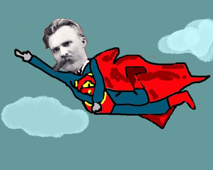 Nietzsche as Superman- Wikimedia- Thus spoke the Terminator