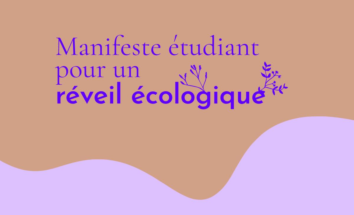 Un manifeste étudiant pour un réveil écologique